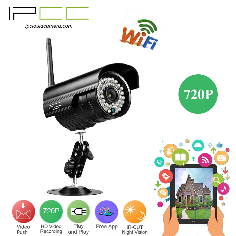 IPCC Built in8G TF card 720P bullet wifi ip camera Wireless Surveillance Network security cam playback