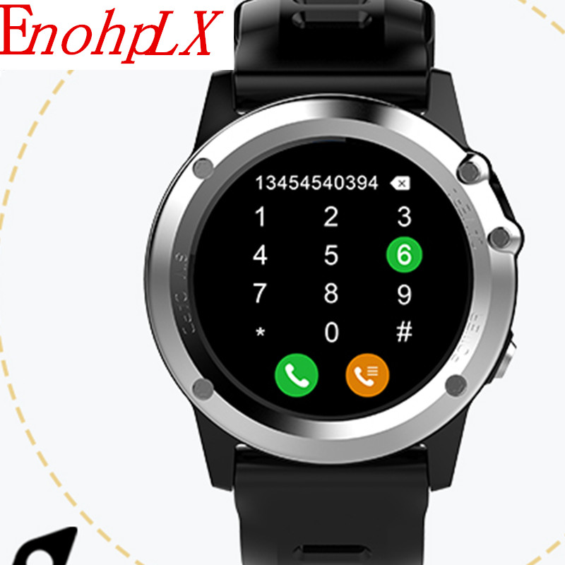 EnohpLX H1 Smart Watch IP68 Waterproof MTK6572 4GB 512MB 3G GPS Wifi Heart Rate Tracker For Android IOS Camera 500W bluetooth mtk6572 android watch sim card camera wifi 3g gps smart watch waterproof heart rate fitness tracker for ios android