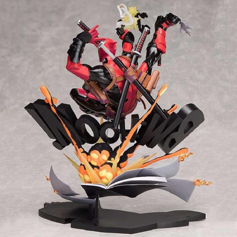 24 cm Marvel Super Hero Deadpool Quebrando A Quarta Parede Mostrar Modelo Toy Boneca Coleção de Deadpool Jouet Presente Das Crianças Xmas