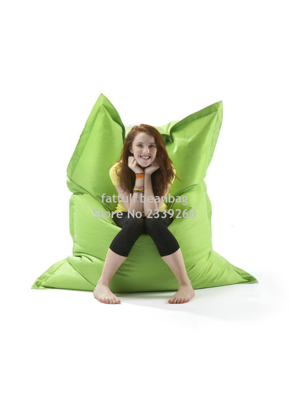 cover only no filler big hug big and extra large eco freindly bean bag green no beans inside - Large Bean Bags