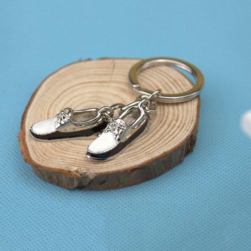 Keychain Boyfriend Gift Cute Sneaker Keychain Spirited Away Christmas Jewelry Fashion Mini Shoes Key Chain Pom Pom in Key Chains from Jewelry Accessories
