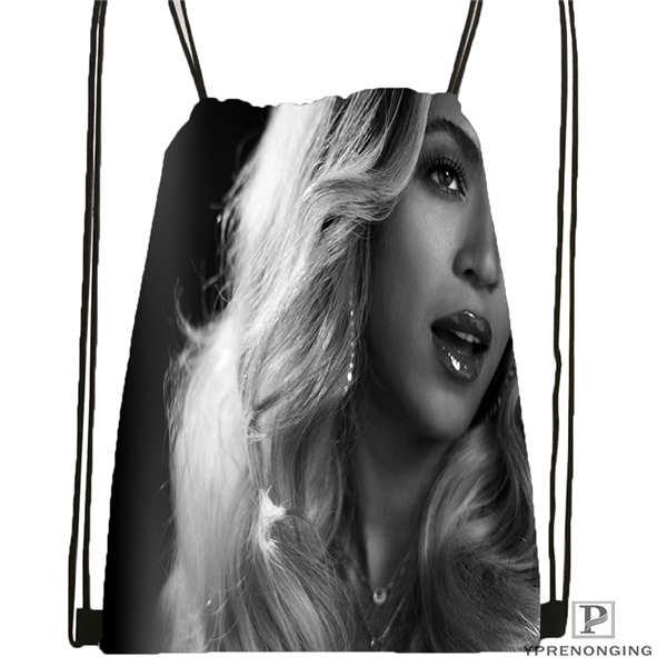 Custom Beyonce @1 Drawstring Backpack Bag For Man Woman Cute Daypack Kids Satchel (Black Back) 31x40cm#20180611-03-142