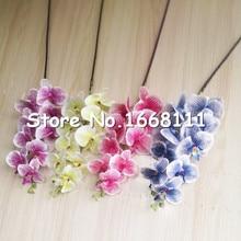 10pcs Moth Orchid Fake 9 Heads Phalaenopsis Orchids 4 Colors 100cm Long for Wedding Centerpieces Artificial Decorative Flowers