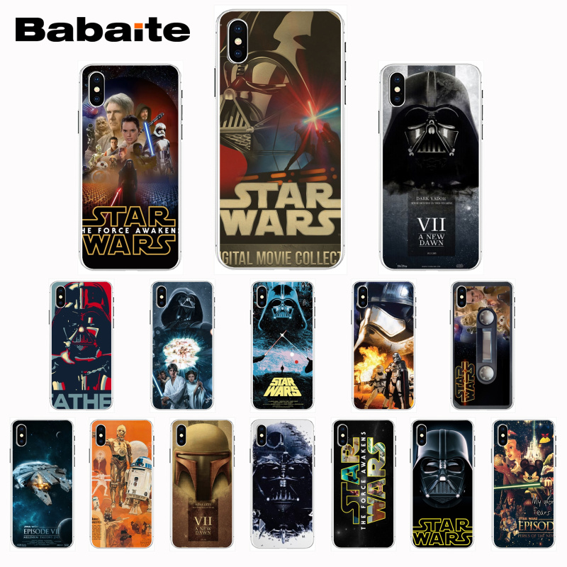 Babaite film series Star Wars design Soft Phone Case for iPhone 8 7 6 6S Plus X Xs Xr XsMax 5 5s SE 5c Coque11 11pro 11promax image