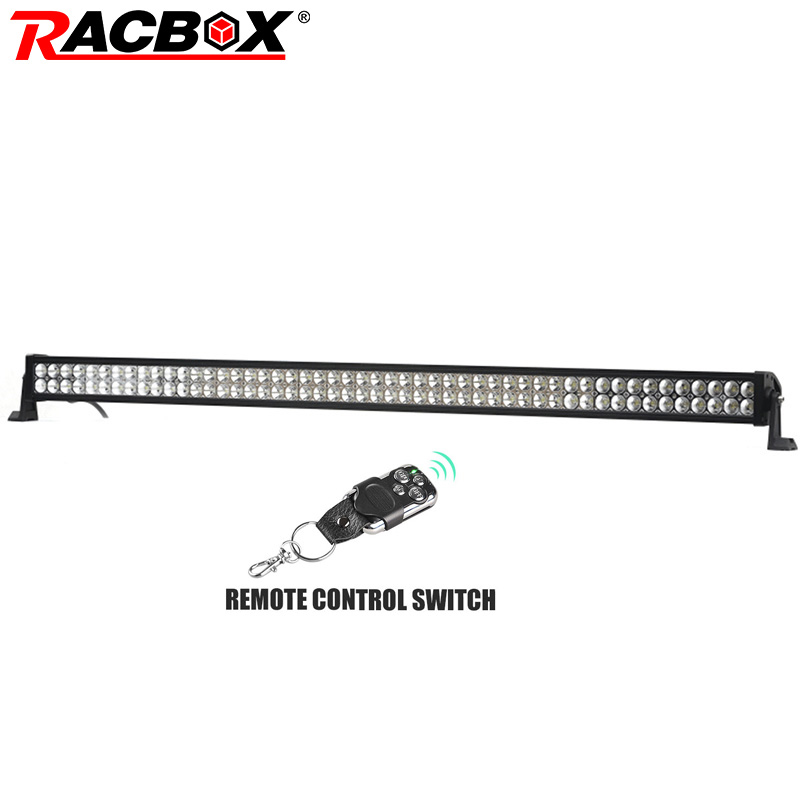 RACBOX 52 Inch 300W OffRoad LED Work Light Bar for Jeep Wrangler Automobile Boat Car Truck 4x4 SUV ATV Fog Lamp Combo Beam 12V new light sourcing 17 inch 72w light bar with screws for wrangler offroad suv atv boat truck