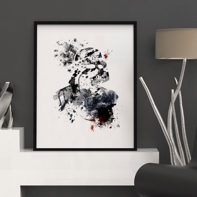 Merveilleux Silhouette Darth Vader Watercolor Home Decor Art Paint Darth Vader Posters  Watercolor Wall Art Paint Kids