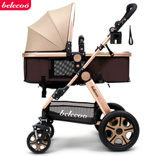Special offer good quality sit & lie baby stroller child rubber wheel barrow light folding easy control travel baby sleeping car