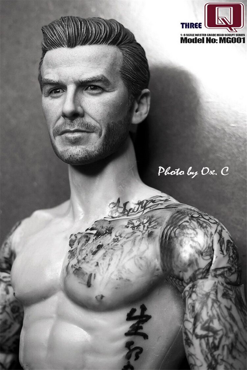 THREEQ MG001 1/6 Soldiers Carved Head of David Beckham  Action Figure Model