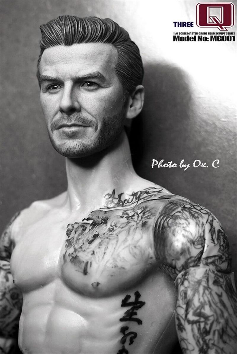 купить THREEQ MG001 1/6 Soldiers Carved Head of David Beckham  Action Figure Model недорого