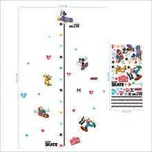 Disney Mickey Height Measure Growth Chart Ruler Wall Stickers Kids Room Home Decor Height Measure Decals Diy Removable Posters цена