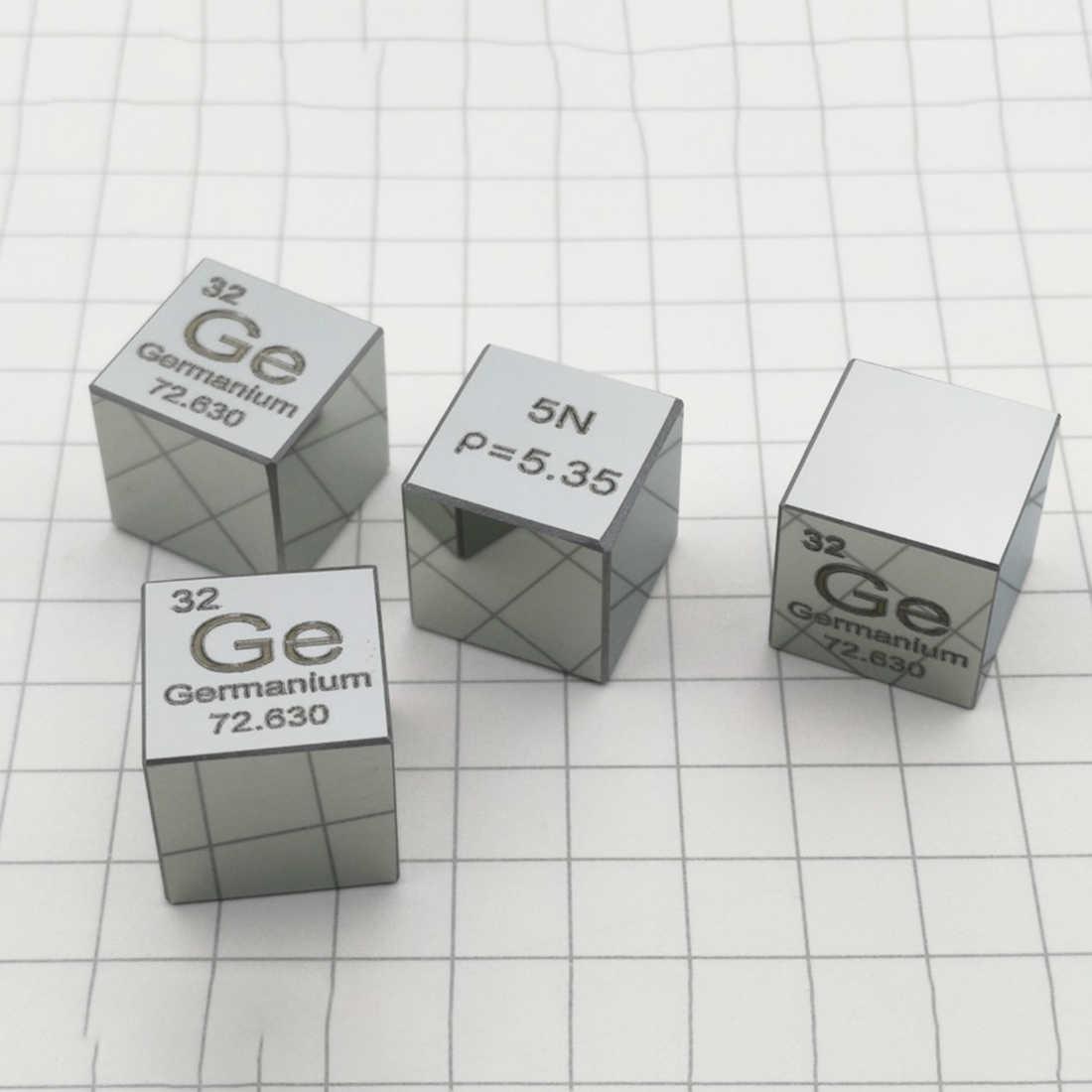 10X10X10 мм зеркальная поверхность высокой чистоты 6N монокристаллический германиевый кубик Таблица элементов куб (Ge≥5N %)-фаска