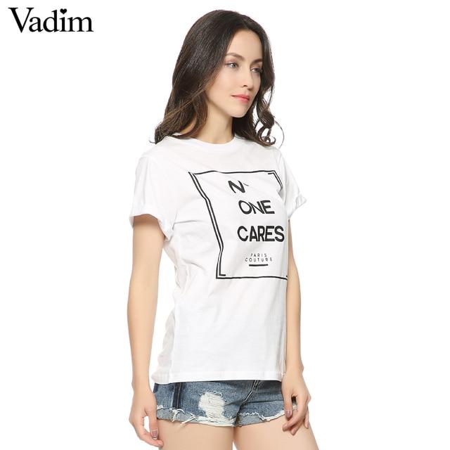 Mulheres letras bonito impressão T shirt camisas femininas Europeu básico manga curta Camisas O pescoço tops casuais DT17