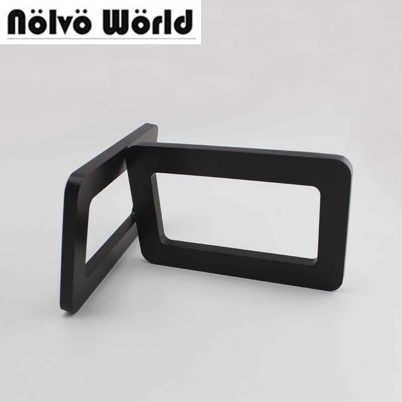 1 Pair=2 Pieces,16*10cm Black Rectangular Wood Handle For Repair Beach Bag,Saving Woman Knit Bags Handbags Wood Handles