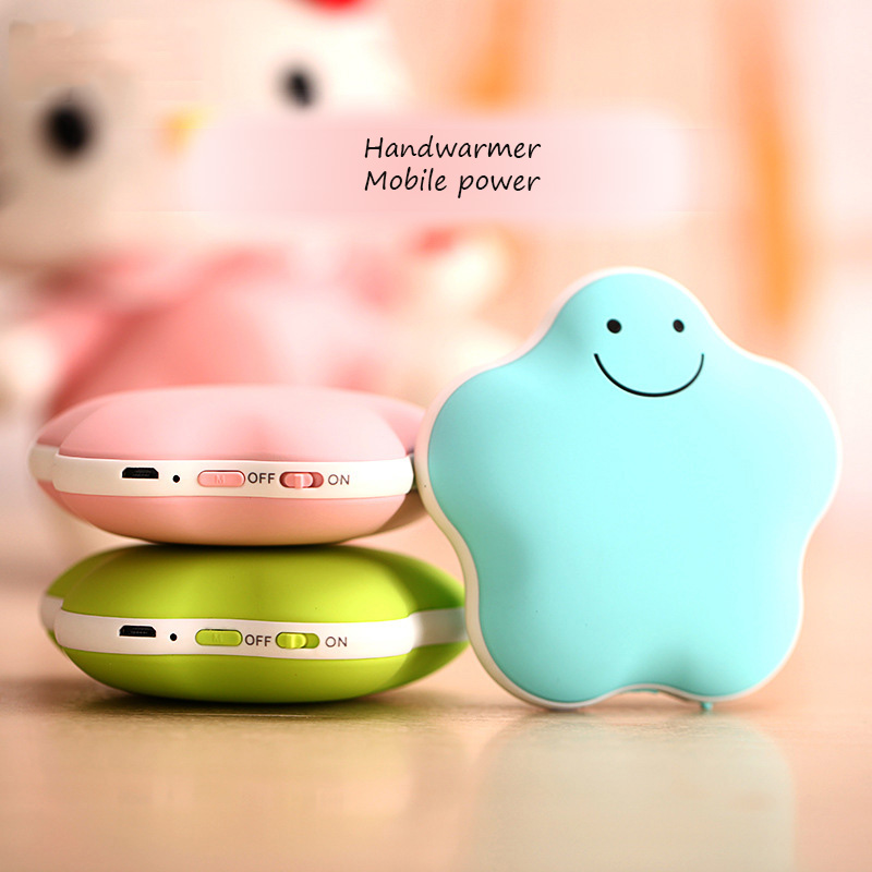 Usb Rechargeable Heater Mini Hand Warmer PTC ceramic heating Portable Mobile Power Macaron Polymer Electric Warm Baby Gift