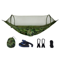 Camping Hammocks With Mosquito Net Portable Quick Open Hammock Bed Anti Mosquito Parachute Hammock For Outdoor Backpack Backya