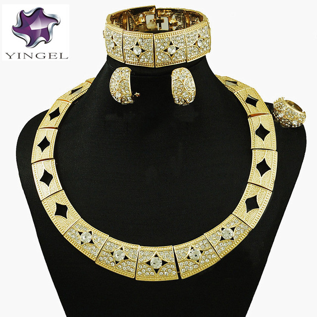 gold jewelry set fashion jewelry costume wedding jewelry set african
