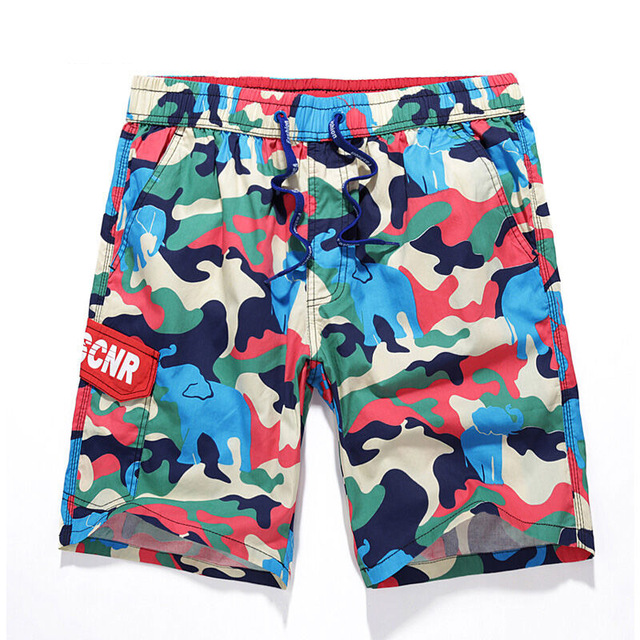 Summer Men's brand Camouflage vacation loose shorts men Fashion casual beach shorts Swimsuit shorts high quality