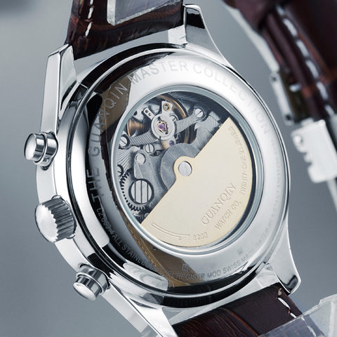 Relogio Masculino GUANQIN Brand 2018 Men Watch Automatic Mechanical Waterproof Clock Stainless Steel Wristwatches dropshipping Multan