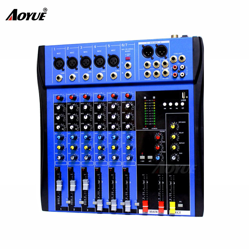 High quality CT-60S 6 channels dj mixer professionalHigh quality CT-60S 6 channels dj mixer professional