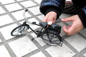 Image 2 - أسود معدن دراجة نموذج و البسيطة ولاعة محاكاة لعبة هدية الديكور نموذج