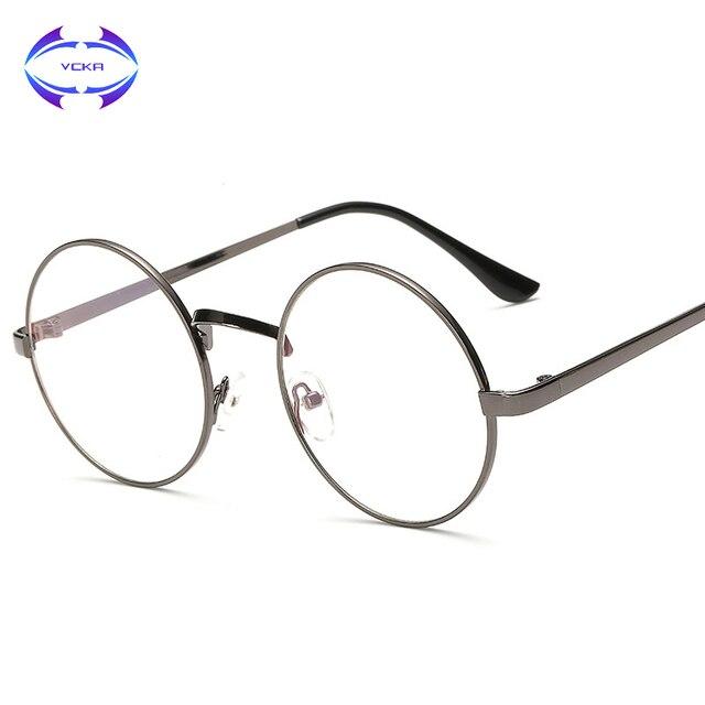 6480689b967 VCKA Vintage Round Harry Potter Glasses frame Women Men Brand Designer  gafas De Sol Spectacle metal frame optical eye glasses