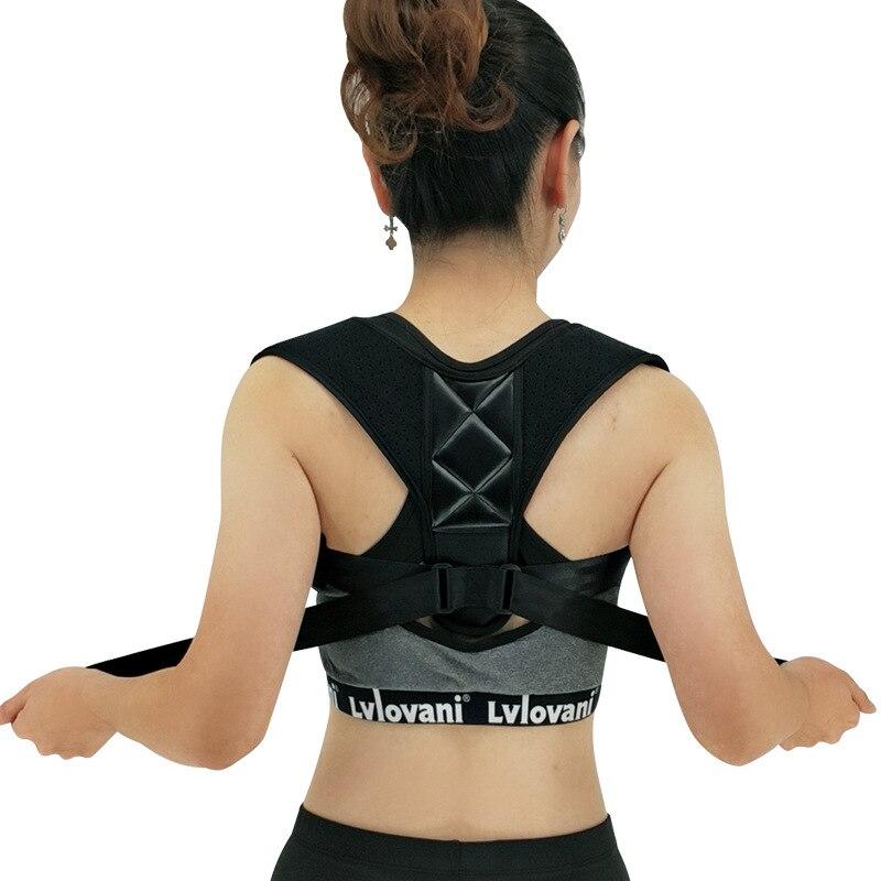 Корректор осанки для мужчин и женщин Регулируемый бандаж для ключиц коррекция плохой осанки предотвращает сутулость снимает боль в спине и позвоночнике|Брекеты и подставки| | АлиЭкспресс