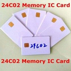 AT24C02 ISO7816 24C02 tarjeta memoria segura en blanco con inteligente IC tarjeta