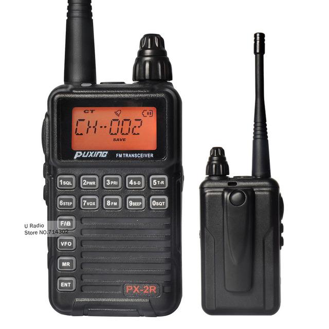 Nueva PuXing PX-2R Radio Portátil Walkie Talkie 2 W 128CH UHF 400-470 MHz de Dos Vías Handheld de Radio Transmisor-Receptor Walkie Talkie portátil
