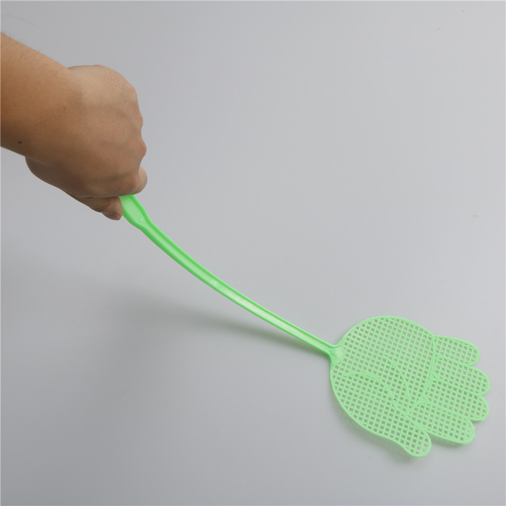 1pc Pest Control Mosquito Bug Plastic Hand Pattern Fly Swatter Flyswatter Tools Reject Insect Swatters In From Home Garden