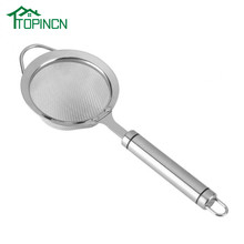Stainless Steel Fried Food Oil Filter 30# Fine Mesh Strainer Colander Kitchen Gadget Accessories(China)