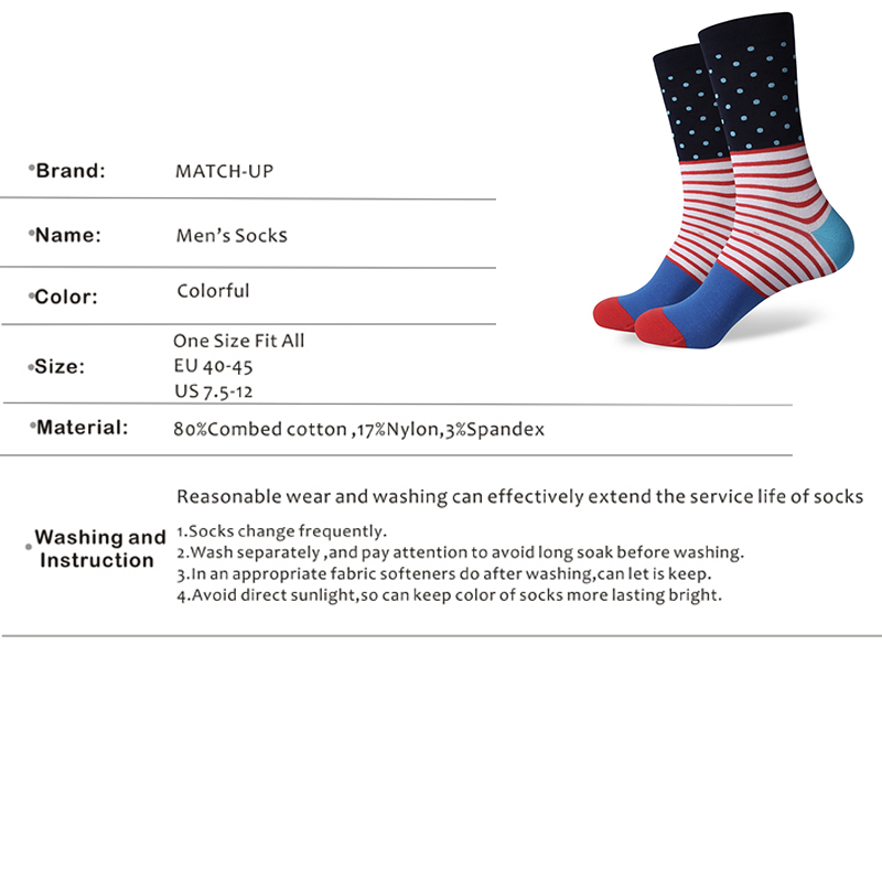 Match-Up Men's  colorful Cool Cotton Dress socks wedding socks (10 Pairs/lot)