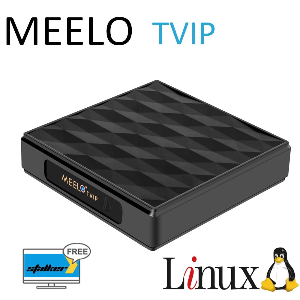 5pcs MEELO TVIP Linux Android Doppio Sistema supporto M3U TVIP IPTVPORTAL Stalker Smart set top box 5pcs lot meelo tvip s805 quad core linux iptv m3u smart tv box support web portal h 265 stalker wifi 2 4g smart media player 250