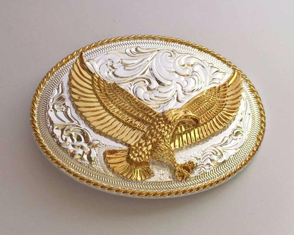 3D Adler Metall Eagle Gürtelschnalle Western Cowboy Cowgirl für Wechselgürtel