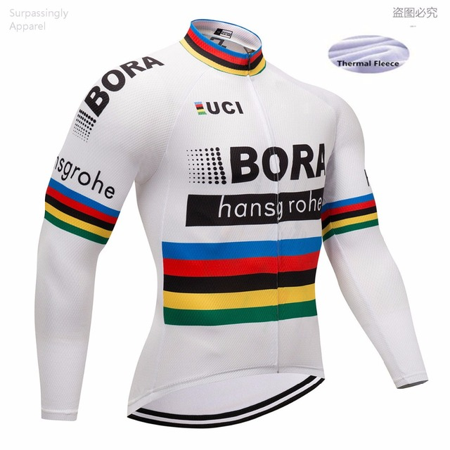 2018 Pro UCI Team Men BORA Cycling Jersey Winter Long Sleeve Bike Bicycle  Clothes Quick Dry Cycling Clothing Ropa Ciclismo 5fdeb65d3