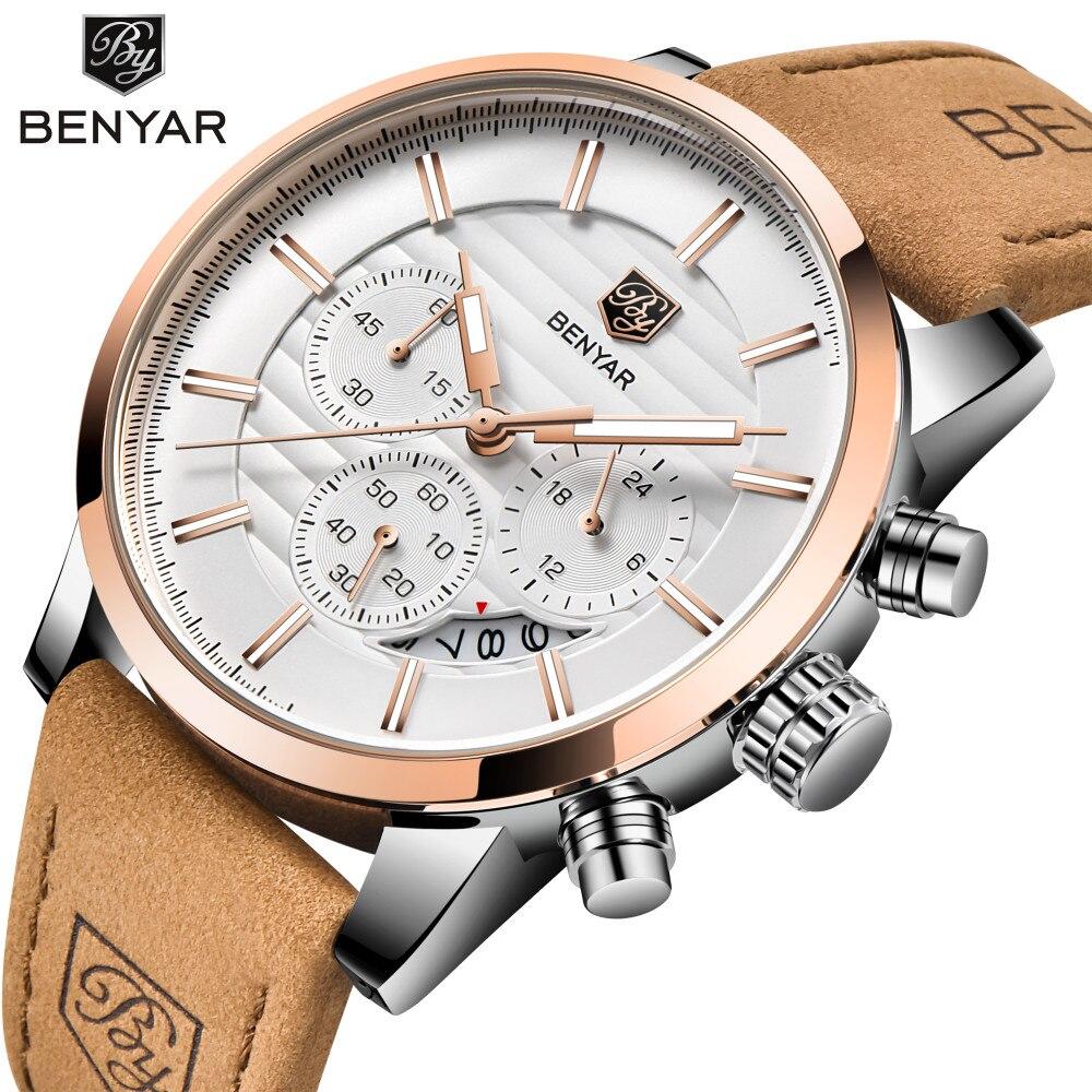 2018 BENYAR Marke Luxus Herren Uhren Reloj Hombre Mode Sport Militär Quarzuhr Uhr Relogio Masculino erkek kol saati