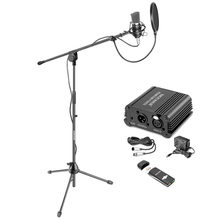 Neewer NW-700 Pro Condenser Microphone Kit: Condenser Mic Mic Floor Stand 48V Phantom Power Supply Shock Mount ilter Mask Shield(China)