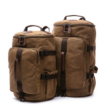 купить High Quality Large Capacity Man Travel Bag Mountaineering Backpack Men Bags Canvas Bucket Shoulder Backpacks дешево