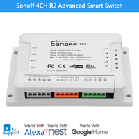 Sonoff 4CH R2 Advanced Smart Switch 4 Channels Wifi Remote Control Smart Switch For Home Appliances
