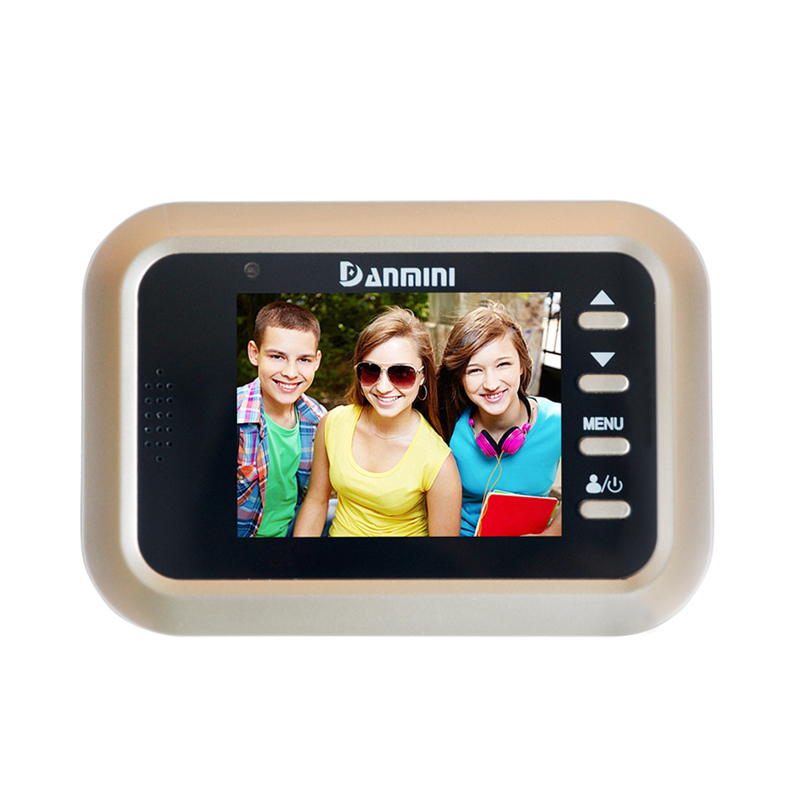 DANMINI New Q8 2.4 Color Screen Video Doorbell Smart Door Peephole Viewer IR Night Vision PIR Motion Sensor Digital Door Camera original danmini 3 0 tft lcd color screen door peephole viewer ir led night vision light doorbell 145 degrees view angle system