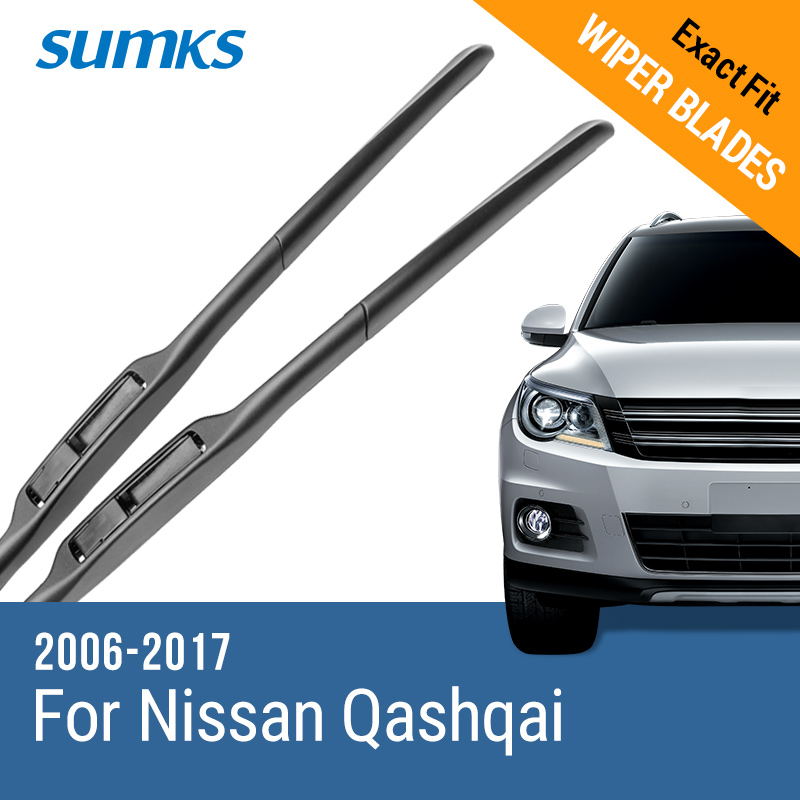 SUMKS Wiper Blades for Nissan Qashqai 24& 15 / 26& 16 Fit pinch tab / hook Arms 2006 to 2017