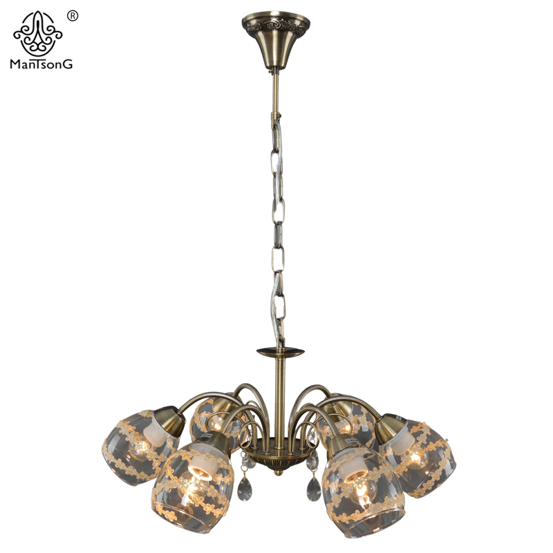 Europe Pendant Lamp for Bedroom Living Room Vintage Crystal Pendants Lights Retro Glass Pendant Lamps Home Decoration Luminaire white crystal pendants chandeliers lights vintage pendant lamp for living room bedroom europe style pendant lamps home lighting