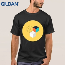 Popular Tee Shirts Short Sleeve Math Work Rubik Cube Grey T-Shirt Mans Customize O-Neck Uniform