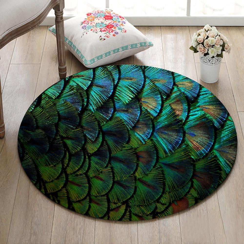 Round Living Room Floor Cushion Bedroom Area Rugs Bathroom