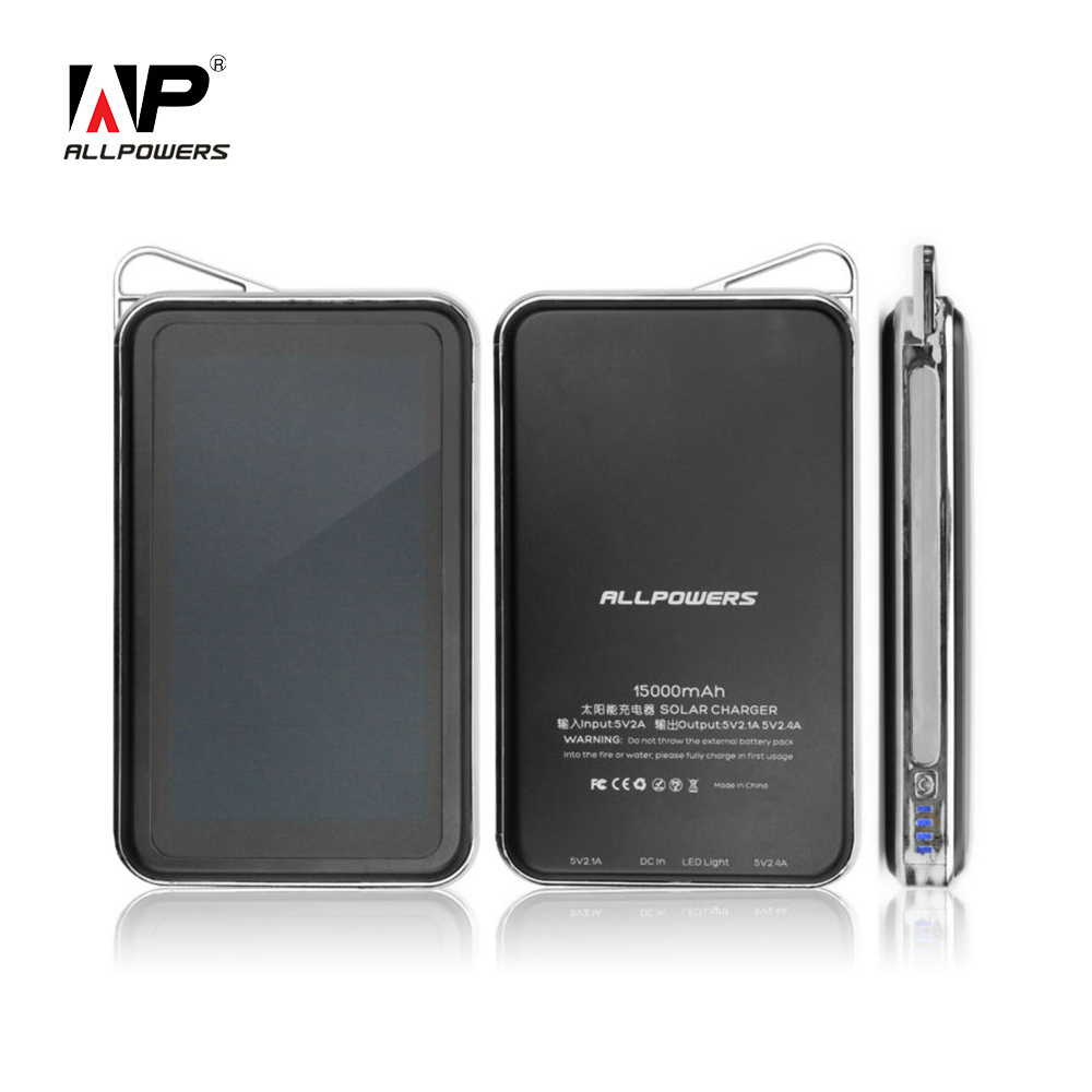 bilder für ALLPOWERS Tragbare Solar-ladegerät 15000 mAh Solarenergienbank USB Solar-ladegerät für iPhone Samsung HTC LG Sony Huawei Xiaomi.