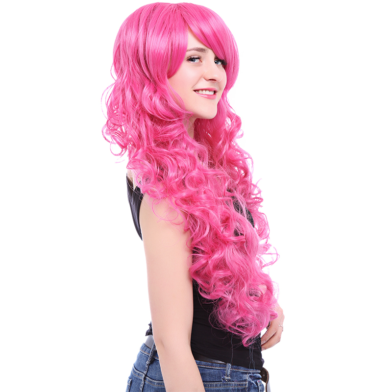 Image 3 - L email wig Brand New 80cm Pink Cosplay Wigs Little Pony Heat Resistant Synthetic Hair Perucas Cosplay WigSynthetic None-Lace  Wigs   -