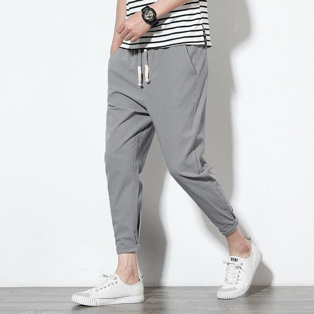 2020 Men Pure Cotton Sportswear Pants Casual Fitness 8 Color Workout Pants Skinny Sweatpants Trousers Big Size Jogger PantsM-5XL 2