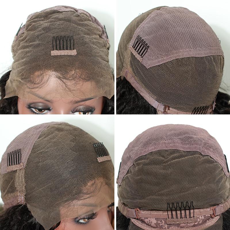 Glueless Pre Plucked Full Lace մարդկային մազերի wigs - Մարդու մազերը (սև) - Լուսանկար 6