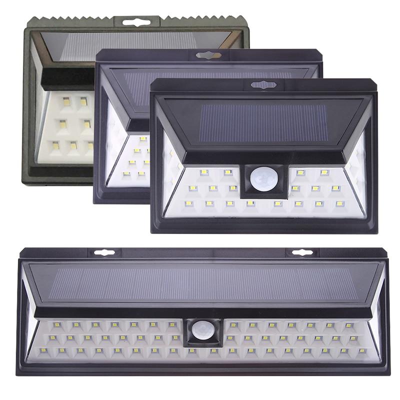 24/44/54 LED Solar Lamp Security Motion Sensor Wide Angle Light Garden Yard Wall Eco-friendly Solar-powered Outside Wall Lights