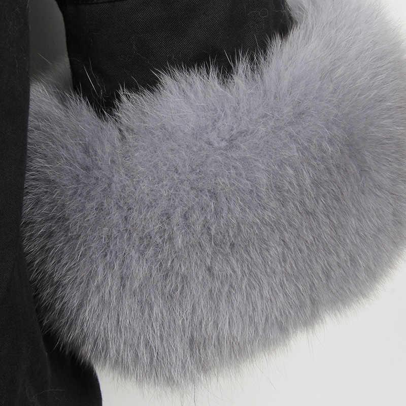 MaoMaoKong ธรรมชาติจริงขนสุนัขจิ้งจอกแจ็คเก็ต Coat ขนสุนัขจิ้งจอกจริง COLLAR Cuff Hooded Coat Parka สั้นยาว Camouflage แจ็คเก็ตฤดูหนาว