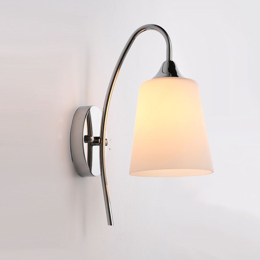 modern brife fashion led wall lamps glass lampshade sconce bedroom wall lights for bedside aisle hotel - Wall Lamps For Bedroom
